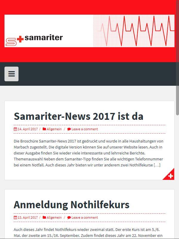 samariter-marbach printscreen