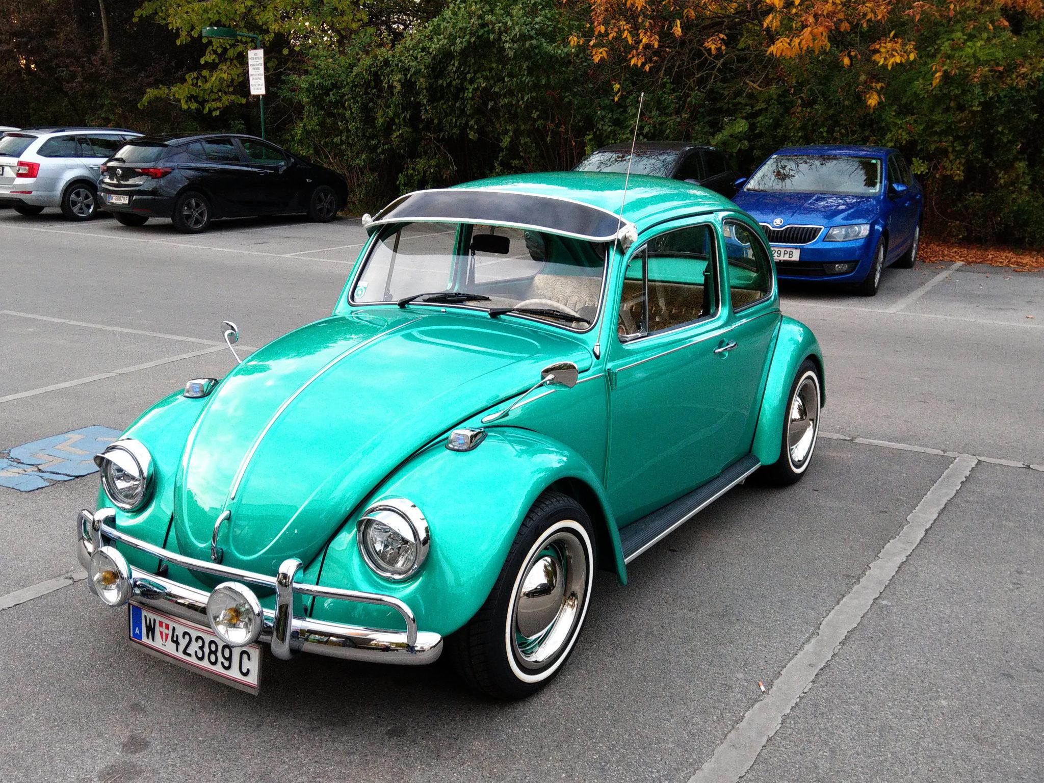 Grüner WV-Käfer