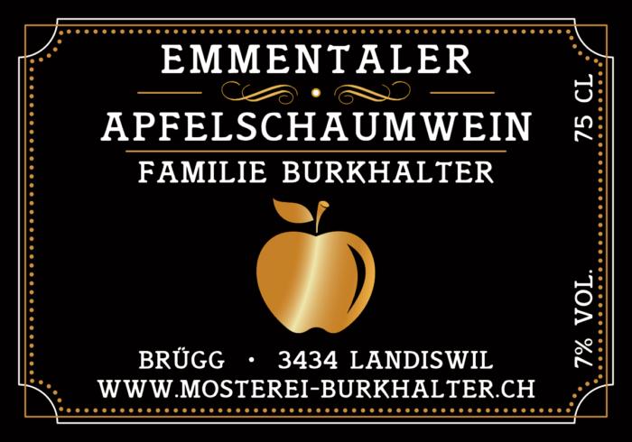 Etiketten Apfelschaumwein